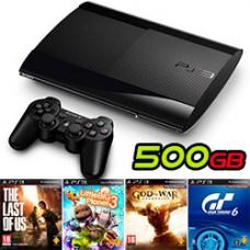 PlayStation 3 ® Slim 500 Gb + 4 Juegos